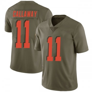 Men's Antonio Callaway Cleveland Browns Limited Green 2017 Salute to Service Jersey