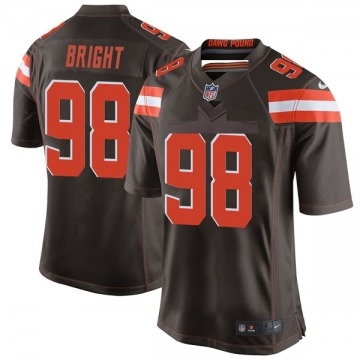 Men's David Bright Cleveland Browns Game Brown Team Color Jersey