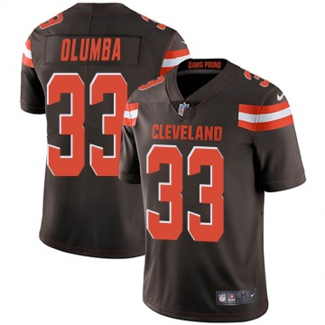 Men's Donovan Olumba Cleveland Browns Limited Brown Team Color Vapor Untouchable Jersey