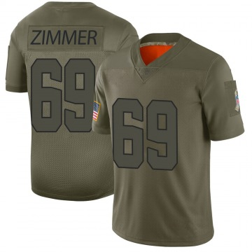 Men's Justin Zimmer Cleveland Browns Limited Camo 2019 Salute to Service Jersey