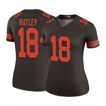 Women's Damion Ratley Cleveland Browns Legend Brown Color Rush Jersey
