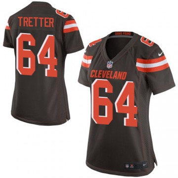 Women's JC Tretter Cleveland Browns Game Brown Team Color Jersey