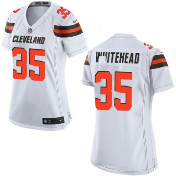 Women's Jermaine Whitehead Cleveland Browns Game White Jersey