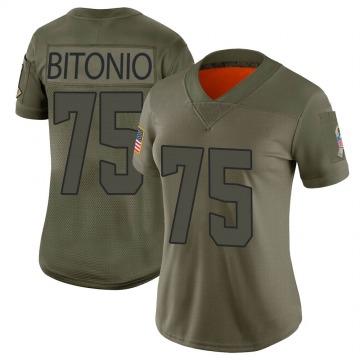 Women's Joel Bitonio Cleveland Browns Limited Camo 2019 Salute to Service Jersey