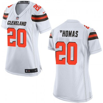 Women's Tavierre Thomas Cleveland Browns Game White Jersey