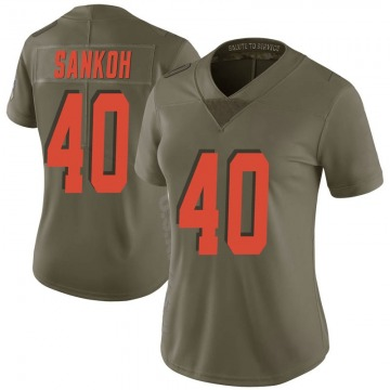 Women's Tigie Sankoh Cleveland Browns Limited Green 2017 Salute to Service Jersey