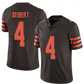 Youth Austin Seibert Cleveland Browns Limited Brown Color Rush Jersey