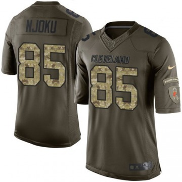 Youth David Njoku Cleveland Browns Limited Green Salute to Service Jersey