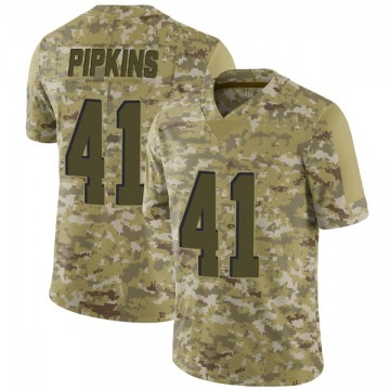 Youth Lenzy Pipkins Cleveland Browns Limited Camo 2018 Salute to Service Jersey