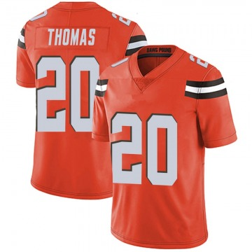 Youth Tavierre Thomas Cleveland Browns Limited Orange Alternate Vapor Untouchable Jersey